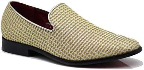 1737efcc7 3 bình luận. Từ Mỹ. SPK13 Men s Vintage Fashion Designer Dress Loafers Slip  On Classic Tuxedo Dress Shoes