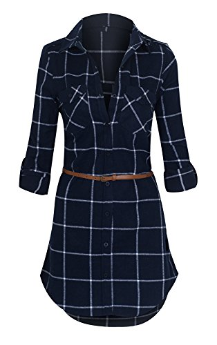 flannel tunic dress - 1