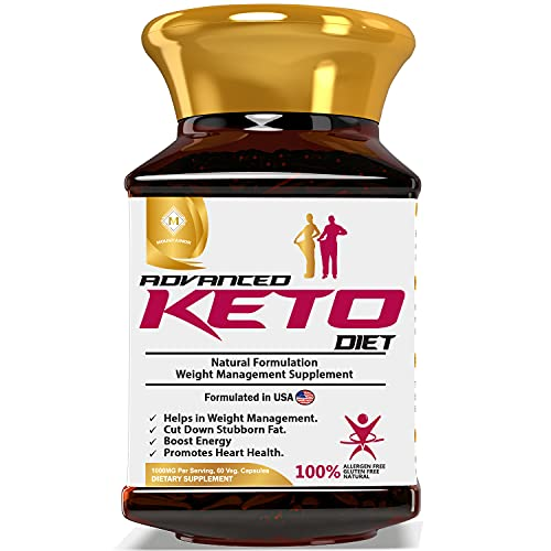 MOUNTAINOR Organic Keto Diet Weight Management Supplement 1000mg, Natural Reducing Formula for Men & Women Advance(60 Veg Caps) With Garcinia Cambogia, Green Tea & Coffee Extracts-Natural & Safe.
