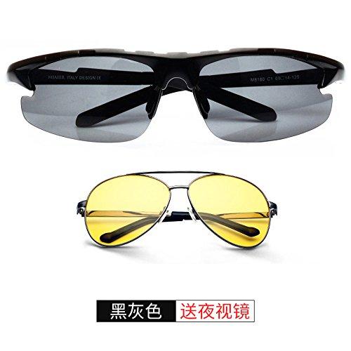 Conducir Para Sol Ojos El De Gafas De Gafas De Sol Ojos Hombres Exterior Conducir Sol Valentín Conducción Regalos San Decoración Polarizadores LLZTYJ Para Black En Hombres Gafas Plata 0xPqwH