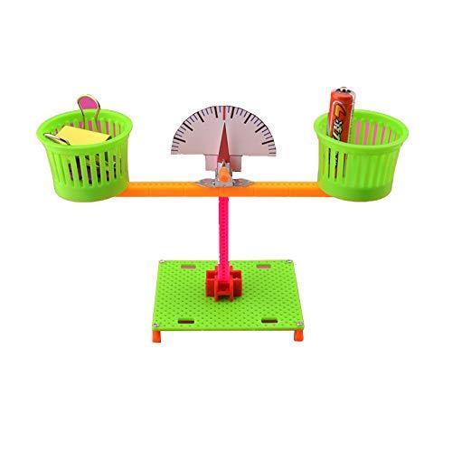juler Stem Juguete DIY Simple balanza para niños Juguetes para niños de Escuela Primaria Hechos a Mano Materiales de...