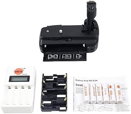 DSTE Pro BG-E2 N agarre Vertical de batería + 6 unidades AA ...