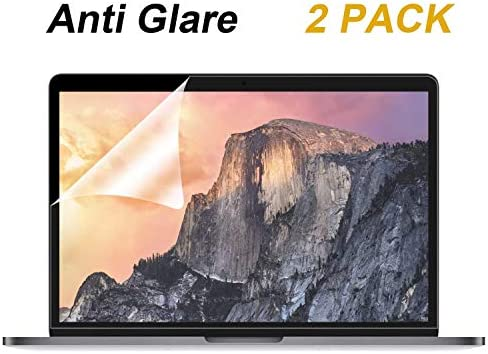 [2 Pack] Anti Glare(Matte) Screen Protector CompatibleMacBook Pro 15 inch 2019 2018 2017 2016 Released Model A1707 A1990Touch BarAnti Dust and Finger-Print Coating