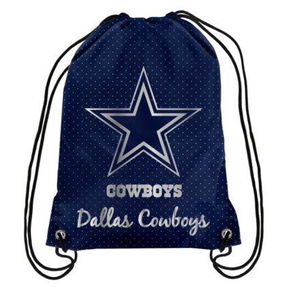 FOCO NFL Dallas Cowboys Womens Metallic Drawstring Backpack