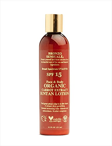Bronzo Sensuale SPF 15 Sunscreen Carrot Tanning Lotion 8....