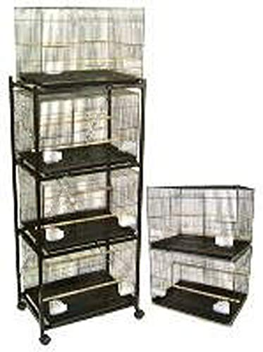 (Brand New Lot of Six Aviary Breeding Bird Cage 24x16x16/Stand - BLACK)