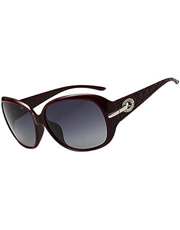 3a7276c3cde Duco Lunettes teintées classiques grands verres lunettes de soleil  polarisées 100% Protection UV 6214