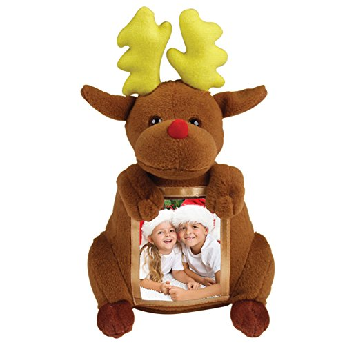 The Keepsake House Christmas Reindeer Plush Picture Frame ()