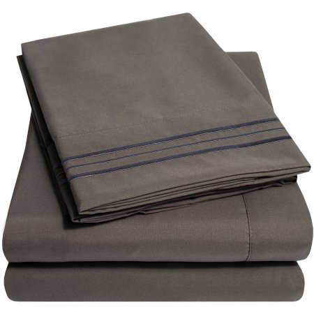 Hotel Style 1100 Thread Count Sheet Set Queen Manatee Grey