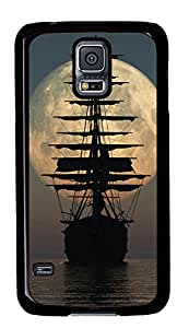 Samsung Galaxy S5 Cases & Covers - Pirate Ship Moon PC Custom Soft Case Cover Protector for Samsung Galaxy S5 - Black