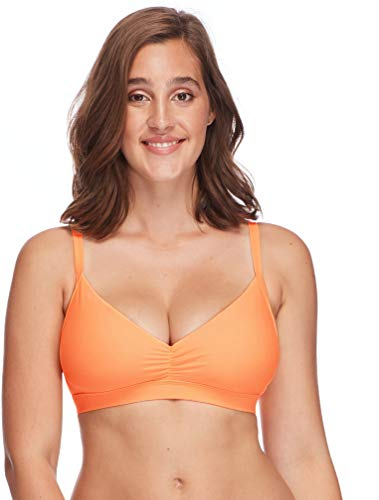 Body Glove Women's Smoothies Drew Solid D, DD, E, F Cup Bikini Top Swimsuit , Smoothies Mango,DD Cup