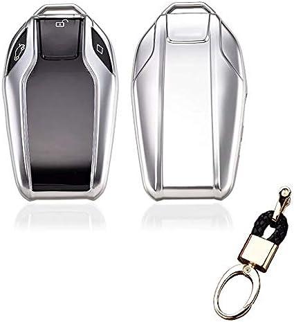 2018 Royalfox 528Li 530Li 540Li,BMW 2016 2017 2018 7 Series G11 G12 TM Silver Soft TPU Smart Display LCD Remote Key Fob case Cover for BMW 5 Series