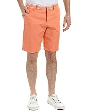 Mens Linen-Blend Short, 34, Orange