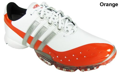 New Adidas Golf Powerband 3.0 Hot Shot Golf Shoes Orange Mens Size 11.5 Medium