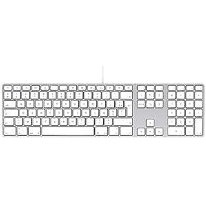 Apple MB110 - Teclado (USB, AZERTY, Universal, Estándar, Color blanco, Mac OS X 10.4 Tiger, Mac OS X 10.5 Leopard, Mac OS X 10.6 Snow Leopard, Mac OS X 10.7 Lion)