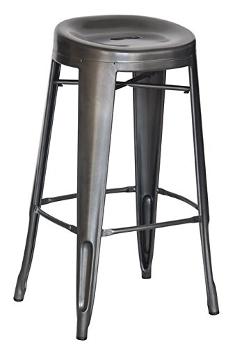Groovy Amazon Com Reservation Seating 2430904 Bar Stool Charcoal Theyellowbook Wood Chair Design Ideas Theyellowbookinfo