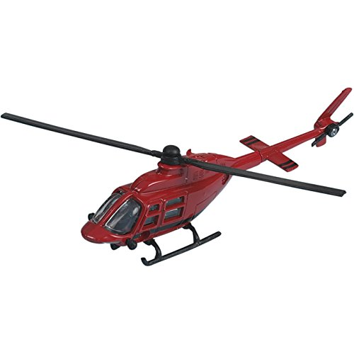 Hot Wings Bell 206 Jet Ranger (Red) with Connectible Runway