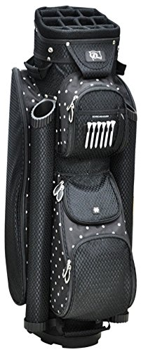 RJ Sports 9-Inch Women's Boutique Deluxe Ladies Cart Bag, Polk A Dot