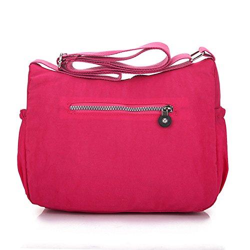 Outreo Bolso Bandolera Escuela Bolsos Mujer Casual Bolsos de Moda Ligero Bolsas de Deporte Impermeable Bolsas de Viaje para Sport Bag Rojo 1