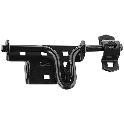 - National Mfg N165506 Slide/Sliding Bolt Door/Gate Latch, Satin Black