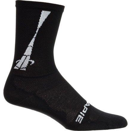 Hincapie 2013 Unisex Edge LT Crew Sock 5 (Black - Small) by Hincapie Sportswear