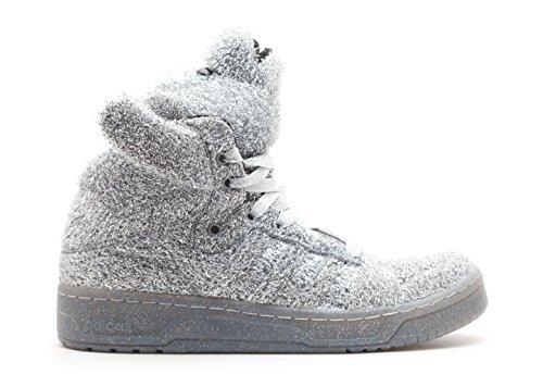 Jeremy Scott Bear (taglie Unisex) In Supplicol (argento) Con Glitter Argento Adidas