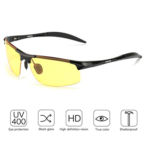 Night Vision Glasses for Men - Yellow Lens Back - Sunglasses Trust Can You
