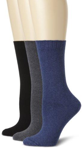 (Hue Women's Loafer Socks (3-Pack), Denim/Graphite/Blk One)