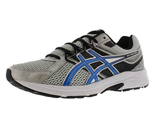 ASICS Men's Gel Contend 3 Running Shoe, Silver/Electric Blue/Black, 10.5 4E US (Asics New Treadmill Gel)