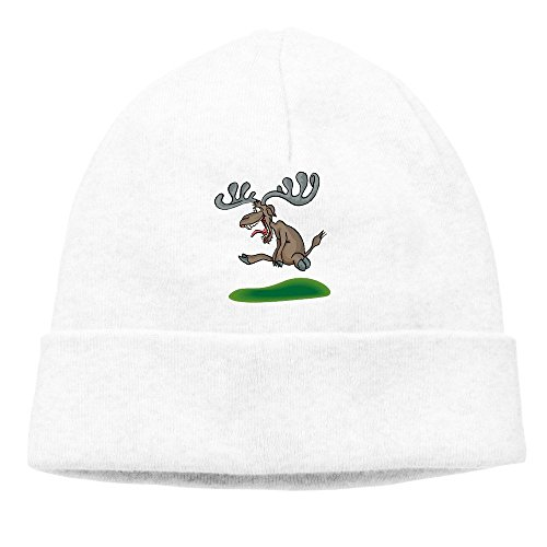 (Crazy Cartoon Moose Beanie Hat For Men And Women)