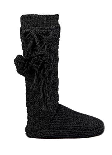 UGG Women's Cozy Slipper Socks Charcoal Heather Medium/Large