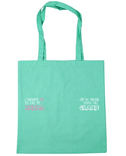 People Shopping litres Mint 42cm x38cm Favourite HippoWarehouse My Bag Beach Tote Call Grandma Gym Me 10 EfUq0w