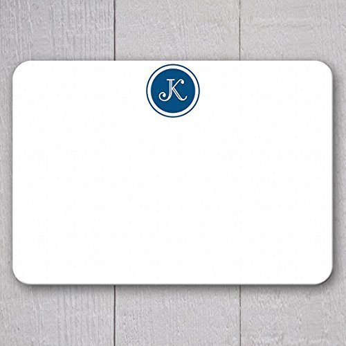 initial note cards 24pk monogrammed note cards personalized flat note cards printed - Initial Note Cards