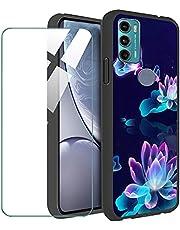 LKJMY voor Motorola Moto G60s Achterkant + Screen Protector,Black hoesjes Silicagel beschermhoes Zacht TPU Case Cover,voor Moto G60s (6.78) Beschermende Film-LKJ18