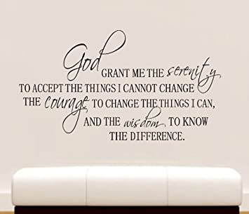 Amazoncom 36 Serenity Prayer Wall Decal Quote Vinyl Love Large