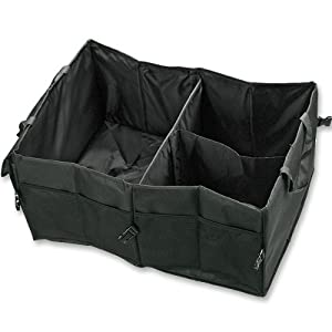 Marrywindix Multipurpose Black Oxford Fabric Foldable Car Cargo Storage Case for Travel Vacation Camping