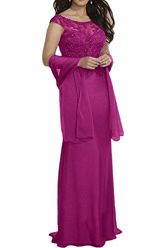 mia Partykleider Spitze La Pink Violett Meerjungfrau Abendkleider Braut Langes Hochwertig Bodenlang Ballkleider 6WWdFzfaq
