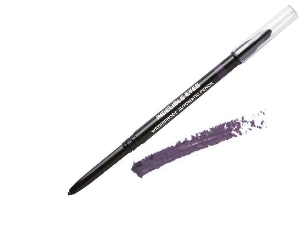 Indelible Eyes Smooth Waterproof Gel Eyeliner - PURPLE FIG - Smudge proof - Ultra Smooth - Super Easy - Long lasting - Blender tip - Longwear - no sharpener needed - Retractable - Slim-line Pencil