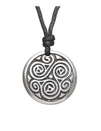 Triskele Necklace of Balance Pewter