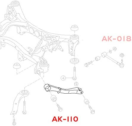 Godspeed AK-110-B fits Subaru Forester 2008-14 Set of 2 Adjustable Toe Rear Trailing Arms With Spherical Bearings