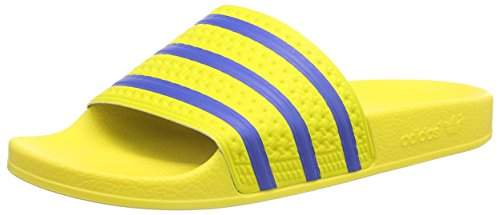 adidas OriginalsAdilette - Zapatos de playa y piscina  Hombre Amarillo - Gelb (Yellow/Bluebird/Core Black)
