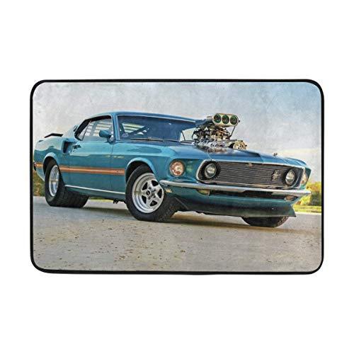 1969 Ford Pro Street Mustang Doormat Indoor Outdoor Entrance Floor Mat Bathroom 23.6 X 15.7 Inch