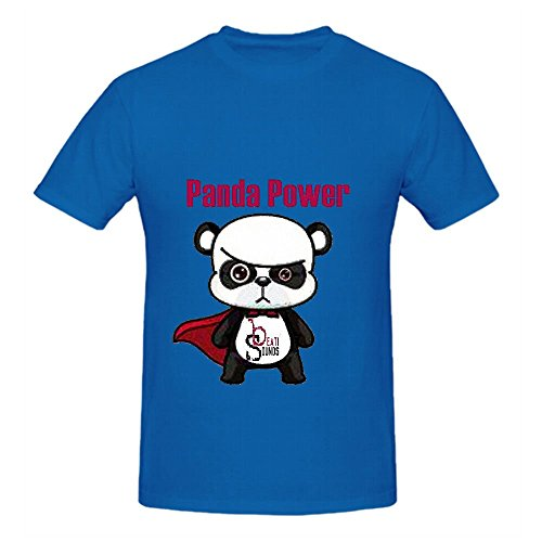 Panda Power - Single Beati Sounds Mens Crew Neck T Shirt Printed Blue