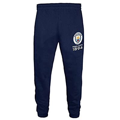 Manchester City FC Official Soccer Gift Boys Slim Fit Fleece Joggers Jog Pants