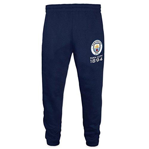 Manchester City FC Gift Boys Slim Fit Fleece Joggers Jog Pants Navy 8-9 Years (Fleece Jog Pants)