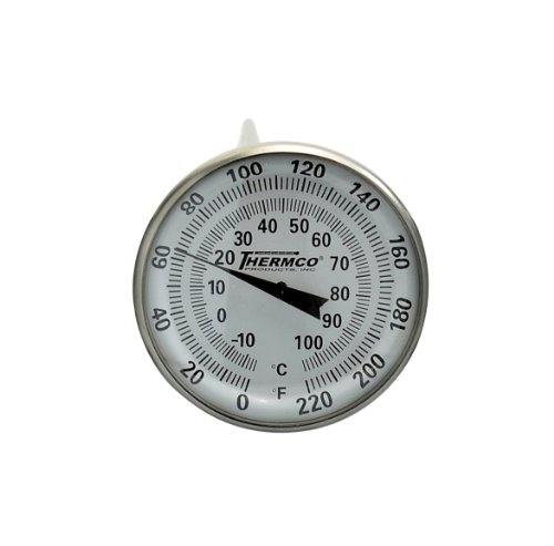 (Thermco ACCG220FC Bi-Metal Dial Laboratory Thermometer, Double Scale, 1-3/4