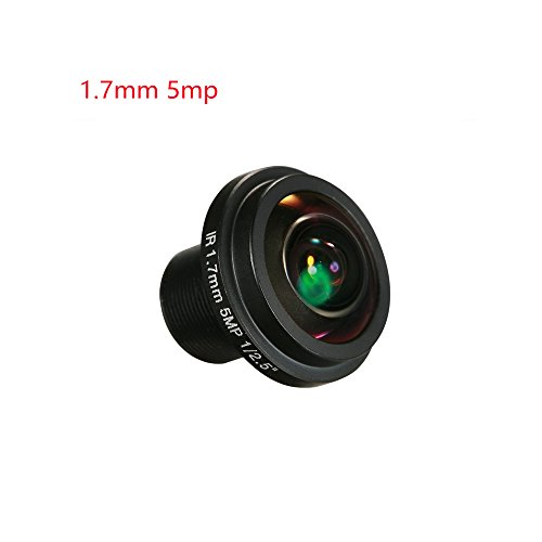 Yohii 1.7mm/0.06 Inch Fisheye Lens HD 5.0 Megapixel BL17820-5MP For CCTV IP Camera 180 Degree Wide Angle Panoramic CCTV Camera Lens by Yohii