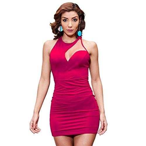 Sexy Evening Polyester Beauty Women Rose Club Garden Dresses Night UExUzaw6q