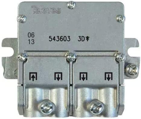 Televes 5451 - Repartidor EMC 1E 3S 543603, Acero Inoxidable