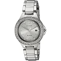 Citizen Women's 'Eco-Drive' Quartz Stainless Steel Casual Watch, Color Silver-Toned (Model: FE1160-54A)